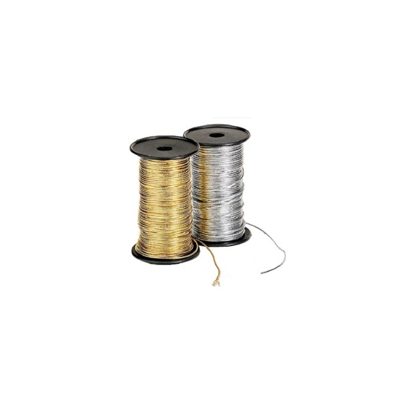 Cordao metalizado diametro 1,1mm rolo c/ 50 mts