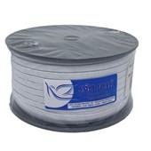 Elastico algodão branco n.08 (5,0 mm) rolo c/ 100 mts
