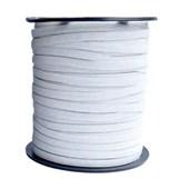 Elastico poliester jaragua branco n.5 largura: 05 mm  pç c/ 100 mts