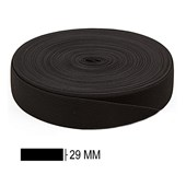Elastico poliester jaragua preto n.30 largura: 29 mm pç c/ 25 mts