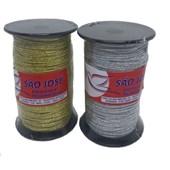 Elastico roliço metalizado diametro: 1,0 mm rolo c/ 50 mts (ref.02r)