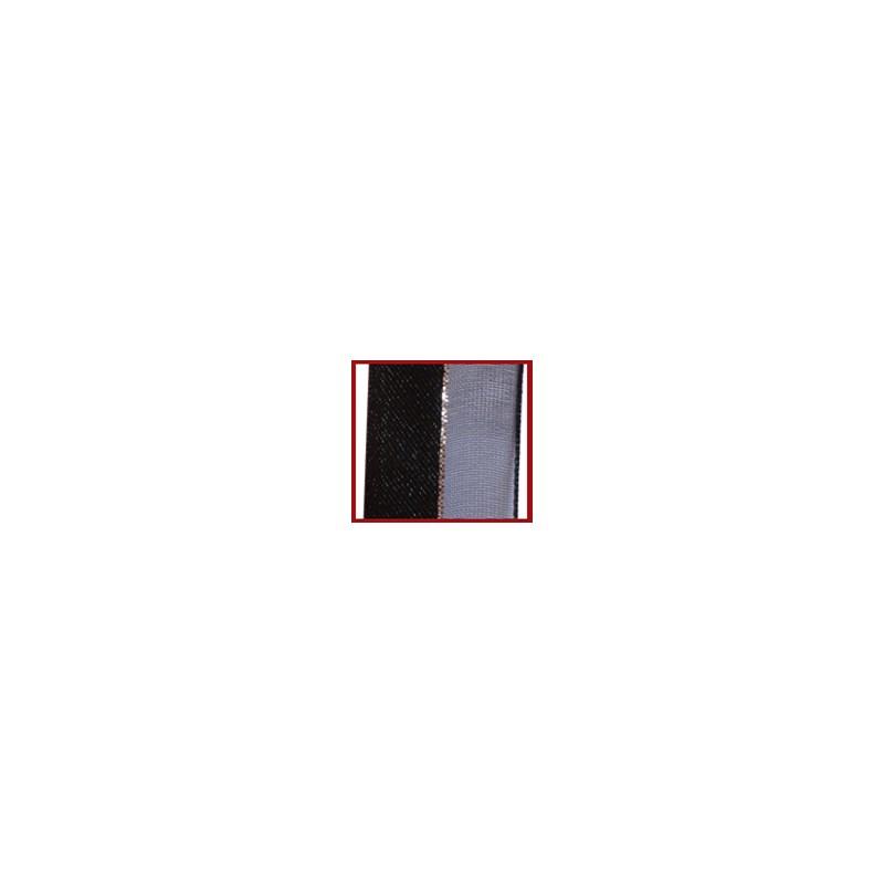 Fita voil/cetim/metalica helô com 38mm c/ 10mts